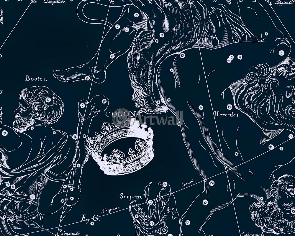"""Постер Космос """"Corona Borealis - Северная Корона"""", 25x20 см, на бумаге от Artwall"""