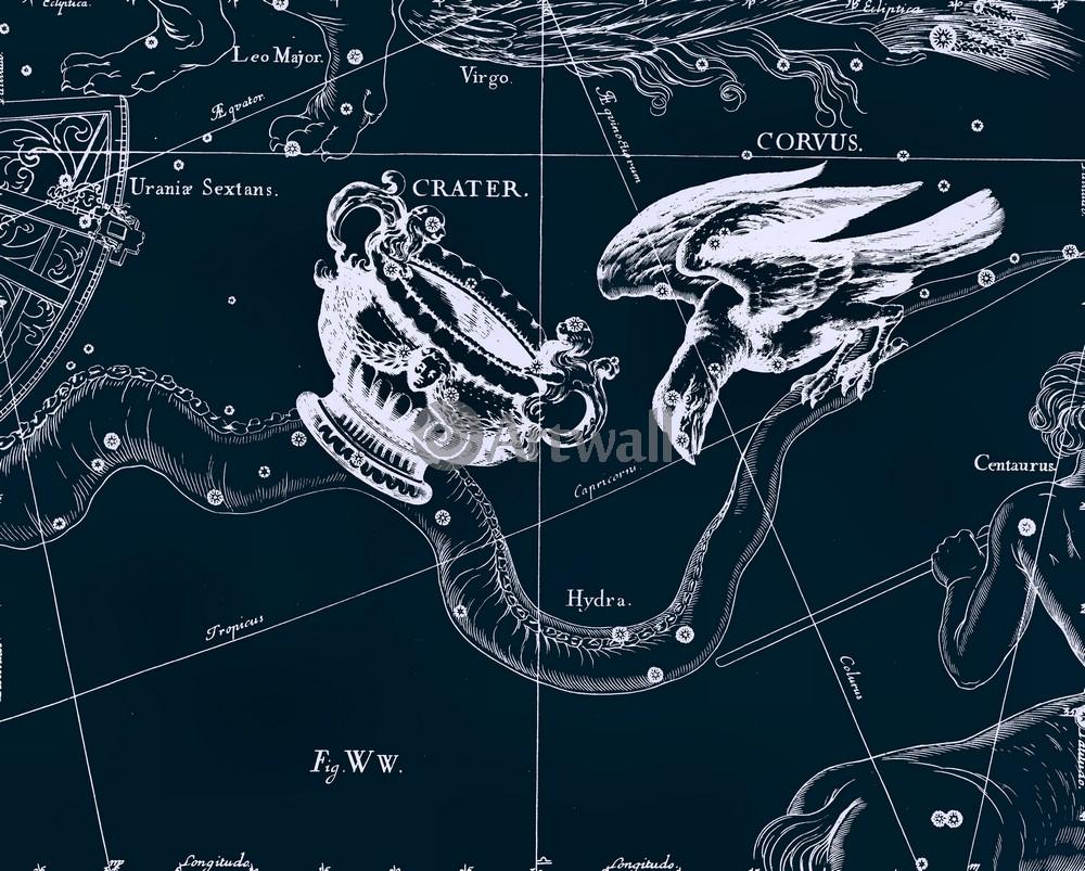 """Постер Космос """"Crater, Corvus - Чаша, Ворон"""", 25x20 см, на бумаге от Artwall"""