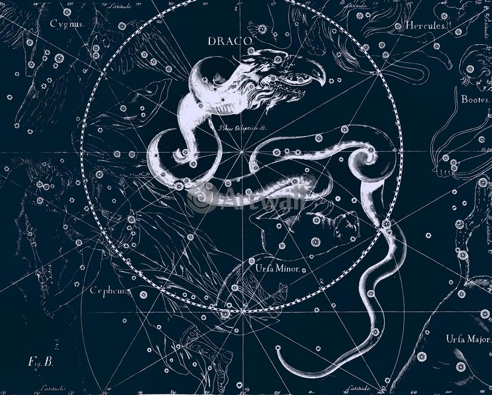 "Постер Космос ""Draco - Дракон"", 25x20 см, на бумаге от Artwall"