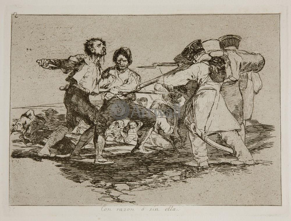 """Художники, картина """"Бедствия войны - Лист 2. Сознательно или безрассудно"""", 26x20 см, на бумаге от Artwall"""