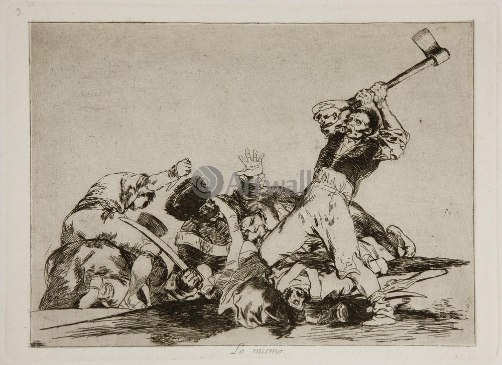 """Художники, картина """"Бедствия войны - Лист 3. То же самое"""", 27x20 см, на бумаге от Artwall"""