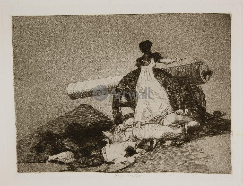 """Художники, картина """"Бедствия войны - Лист 7. Какое мужество"""", 26x20 см, на бумаге от Artwall"""