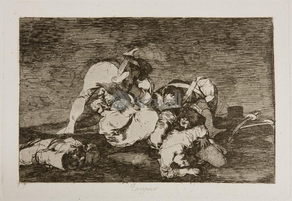 """Художники, картина """"Бедствия войны - Лист 10. Эти тоже"""", 29x20 см, на бумаге от Artwall"""