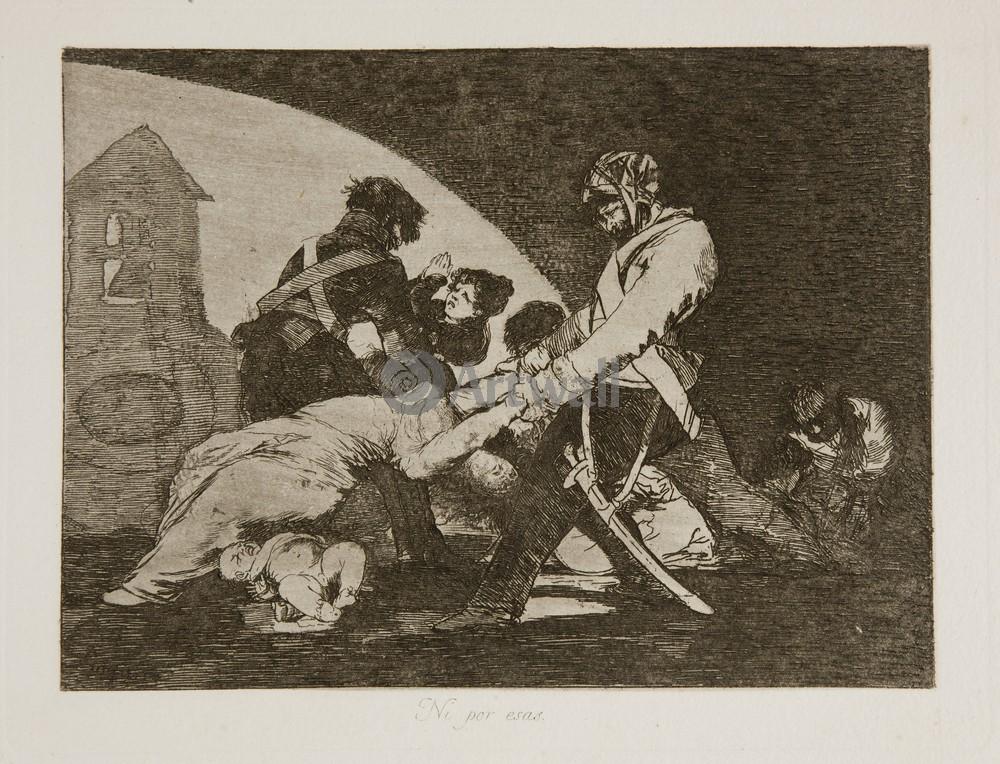 """Художники, картина """"Бедствия войны - Лист 11. И даже эти"""", 26x20 см, на бумаге от Artwall"""