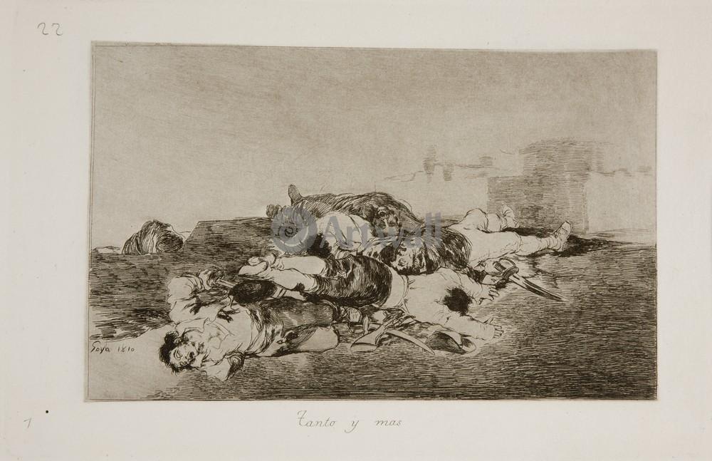"""Художники, картина """"Бедствия войны - Лист 22. Столько и ещё больше"""", 31x20 см, на бумаге от Artwall"""