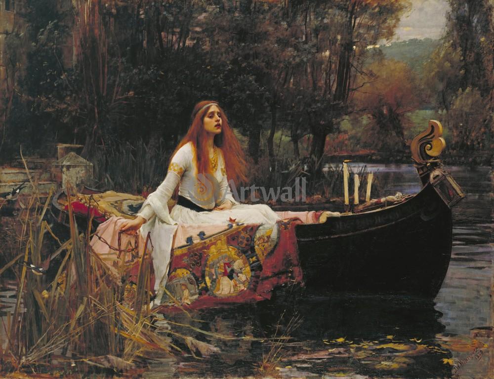 "Художники, картина ""Леди из Шалотт"", 26x20 см, на бумаге от Artwall"
