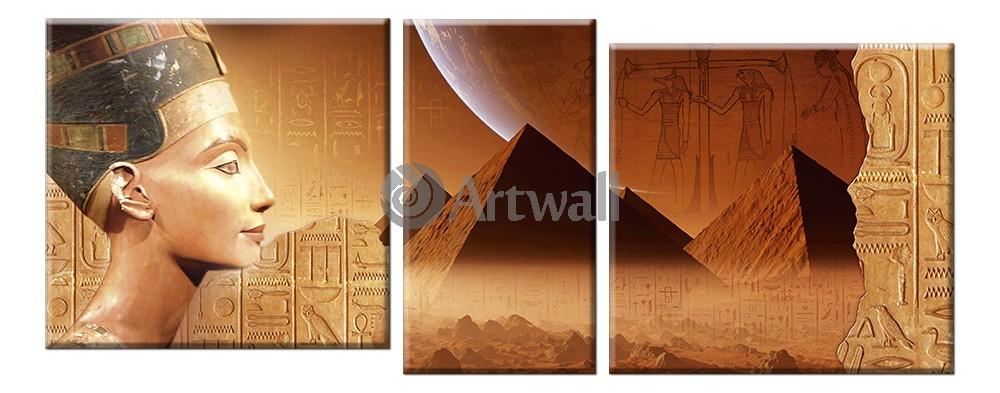 Модульная картина «Тайны Египта», 127x50 см, модульная картина от Artwall
