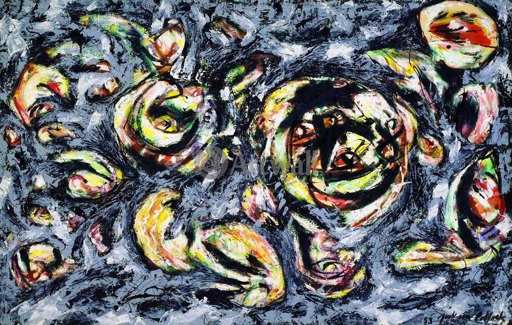 """Художники, картина """"Океан серости"""", 31x20 см, на бумаге от Artwall"""