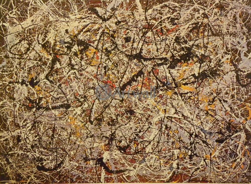 """Художники, картина """"Фреска на красной индийской земле"""", 27x20 см, на бумаге от Artwall"""