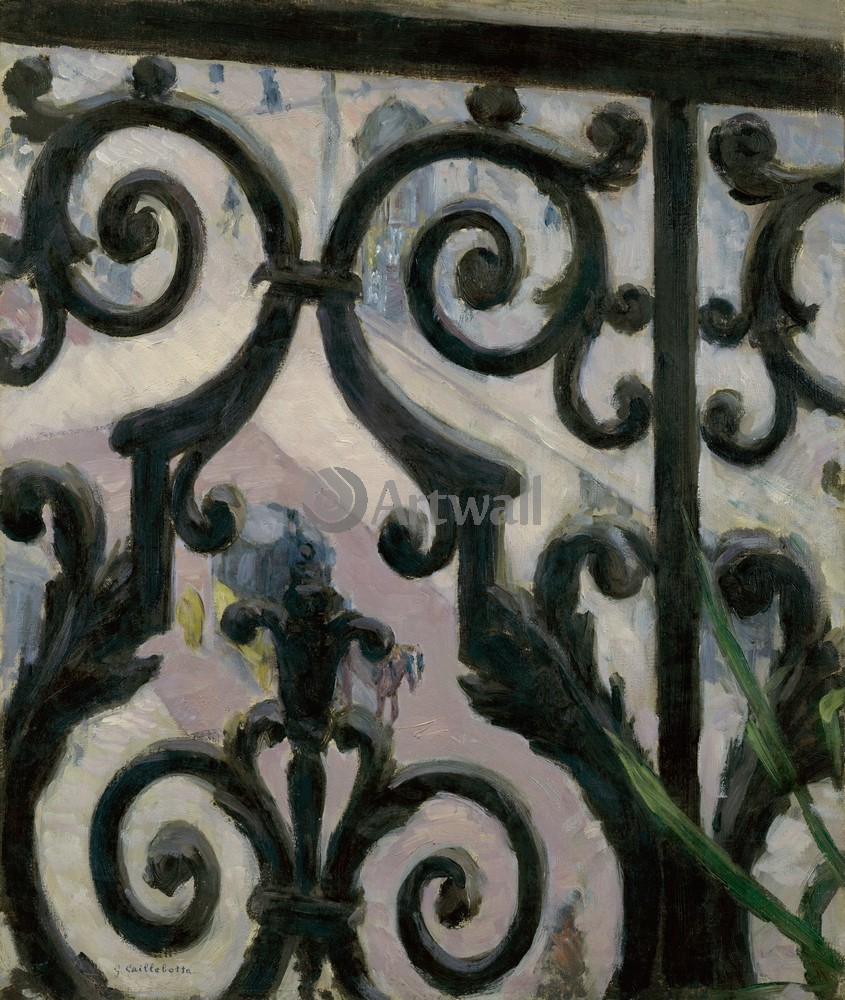 """Художники, картина """"Вид с балкона"""", 20x24 см, на бумаге от Artwall"""