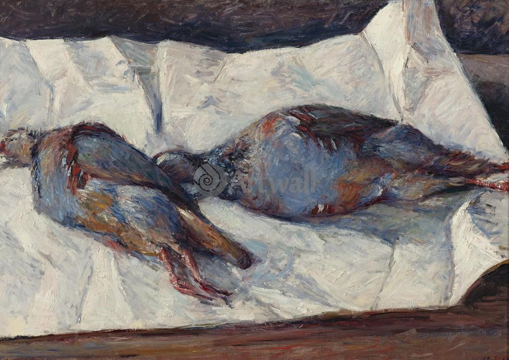 "Художники, картина ""Две куропатки"", 28x20 см, на бумаге от Artwall"