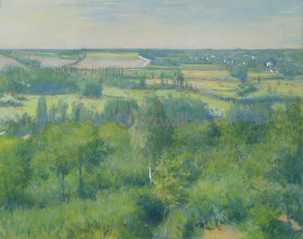 """Художники, картина """"Долина де Лье"""", 25x20 см, на бумаге от Artwall"""