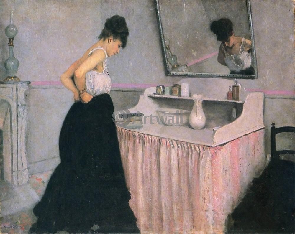 "Художники, картина ""Женщина у туалета"", 25x20 см, на бумаге от Artwall"