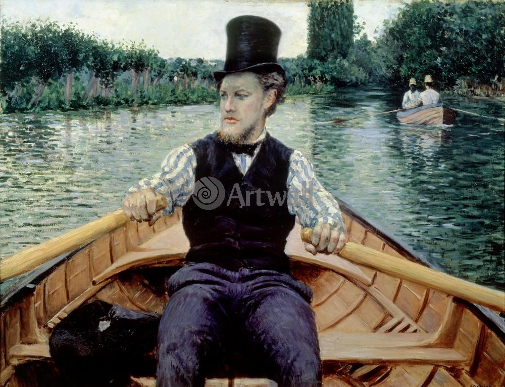 """Художники, картина """"Катание на лодке"""", 26x20 см, на бумаге от Artwall"""