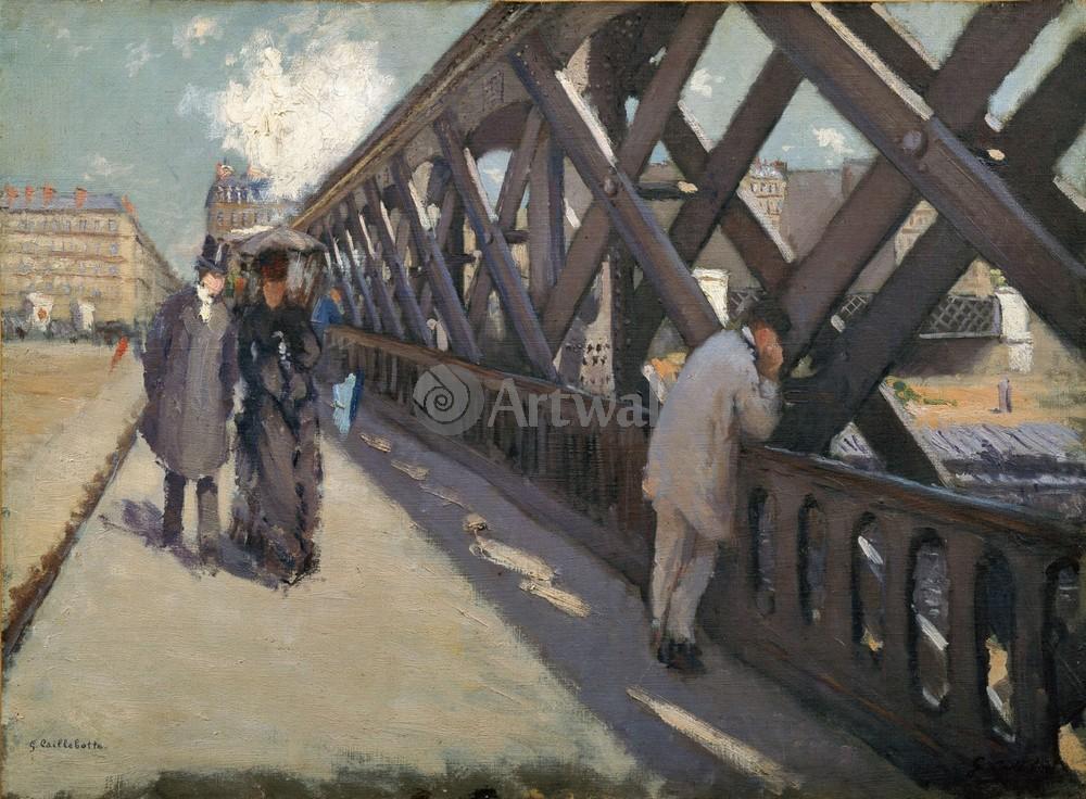 """Художники, картина """"Мост Европы"""", 27x20 см, на бумаге от Artwall"""