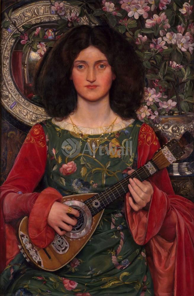 "Искусство, картина ""Банс Кейт Элизабет, Мелодия"", 20x31 см, на бумаге от Artwall"