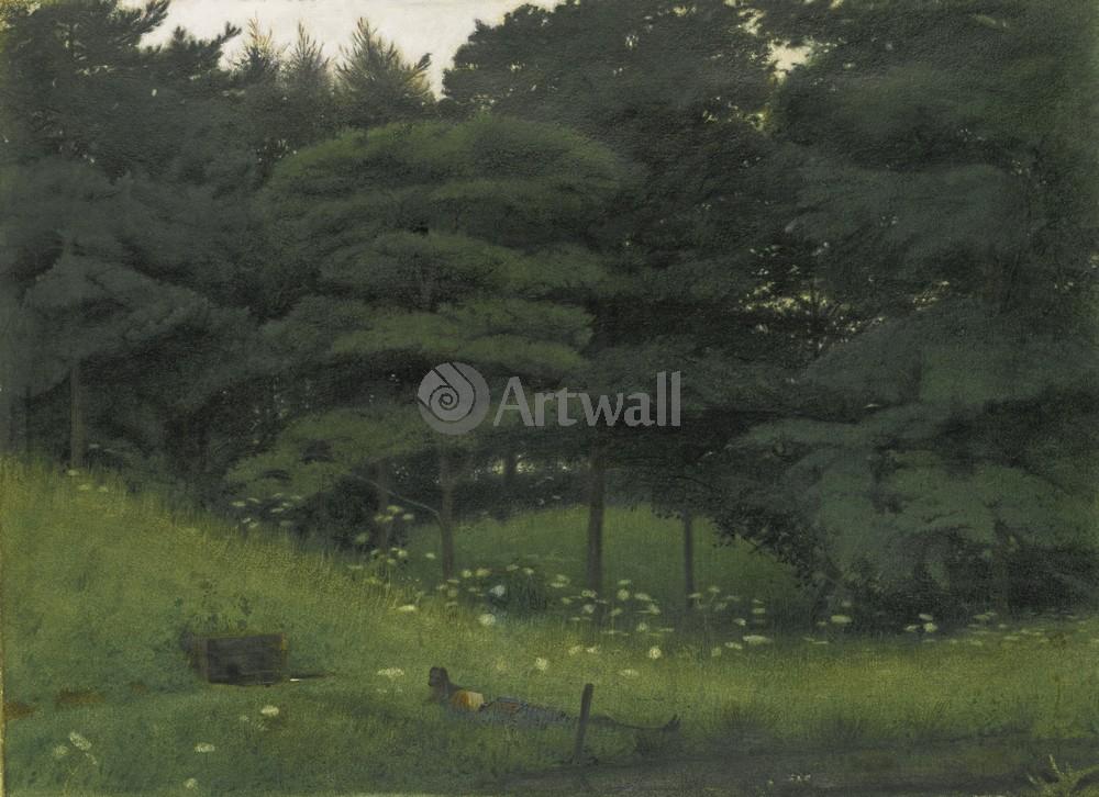 """Искусство, картина """"Бейтман Роберт, Три ворона"""", 28x20 см, на бумаге от Artwall"""