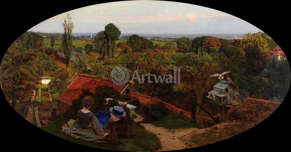 """Искусство, картина """"Браун Форд Мэдокс, Английский осенний день"""", 38x20 см, на бумаге от Artwall"""
