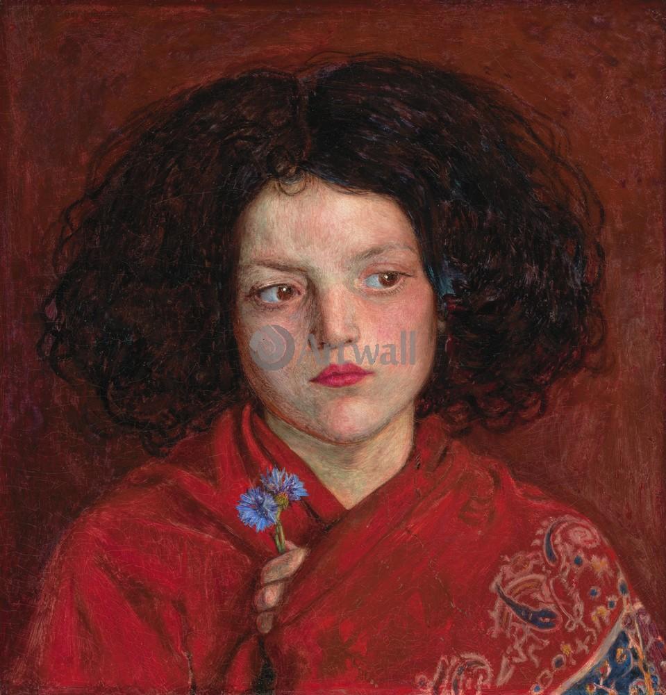 "Искусство, картина ""Браун Форд Мэдокс, Ирландская девушка"", 20x21 см, на бумаге от Artwall"