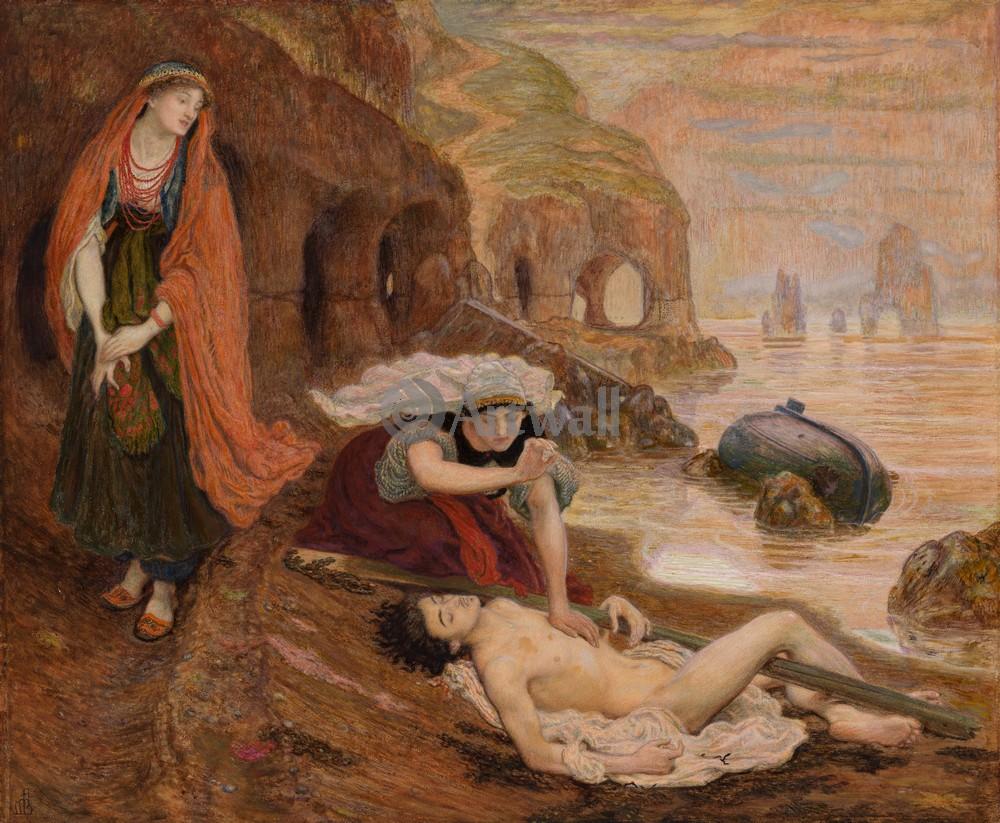 "Искусство, картина ""Браун Форд Мэдокс, Нахождение дона Жуана"", 24x20 см, на бумаге от Artwall"