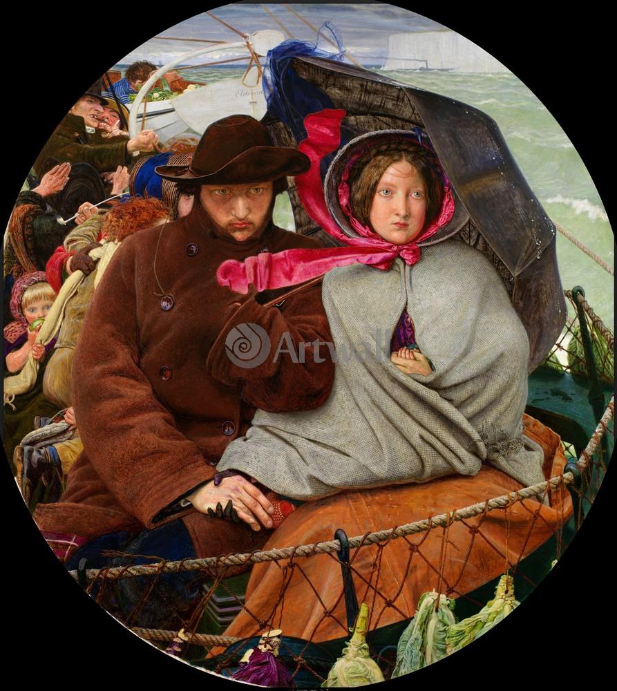 """Искусство, картина """"Браун Форд Мэдокс, Прощание с Англией"""", 20x22 см, на бумаге от Artwall"""