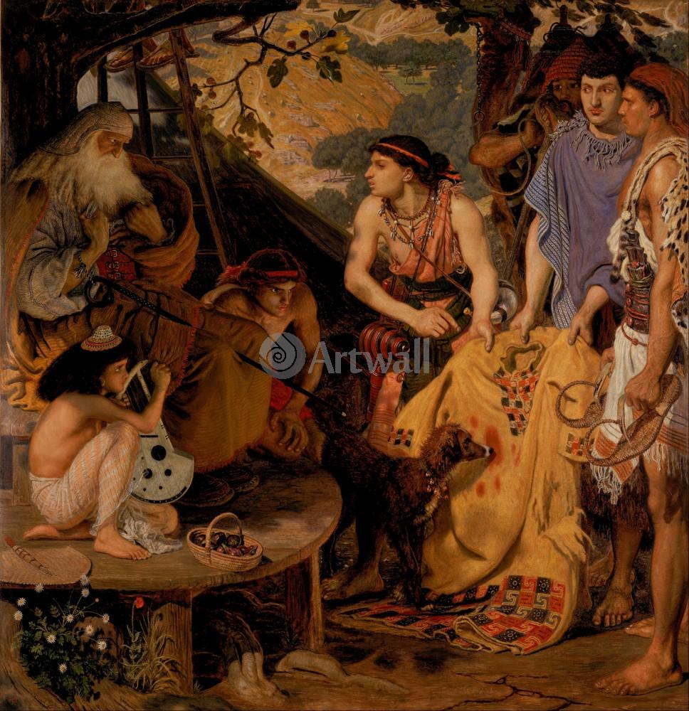 """Искусство, картина """"Браун Форд Мэдокс, Расшитое платье"""", 20x21 см, на бумаге от Artwall"""