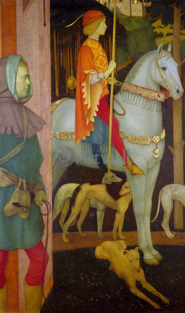 "Искусство, картина ""Гаскин Артур Джозеф, Килвич, королевский сын"", 20x34 см, на бумаге от Artwall"