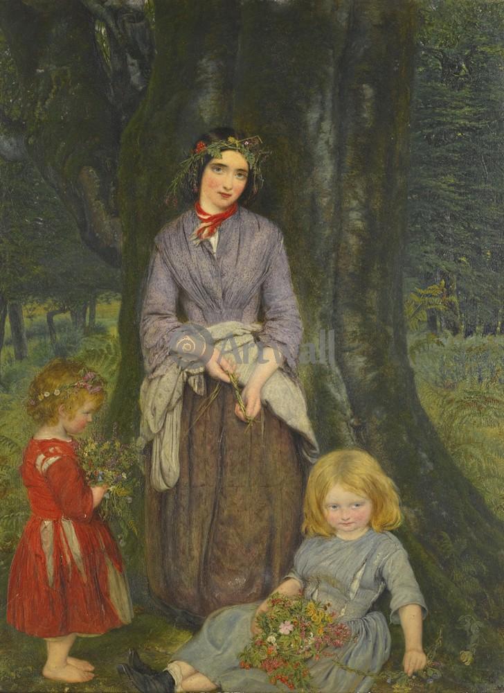 "Искусство, картина ""Гейл Уильям, Весенние цветы"", 20x27 см, на бумаге от Artwall"