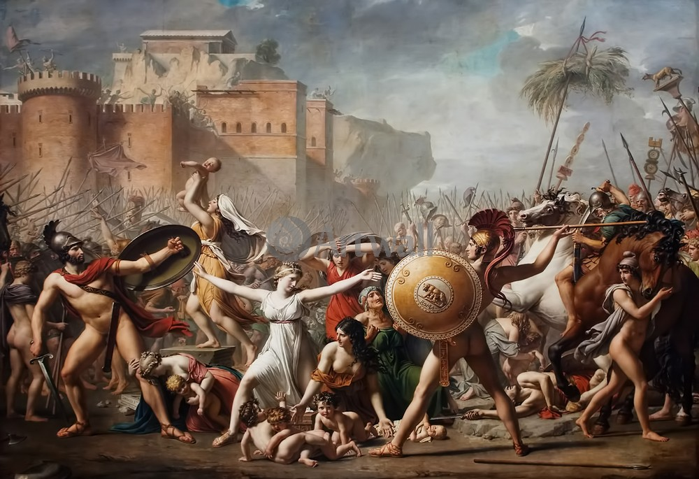"""Художники, картина """"Останавливающие битву"""", 29x20 см, на бумаге от Artwall"""