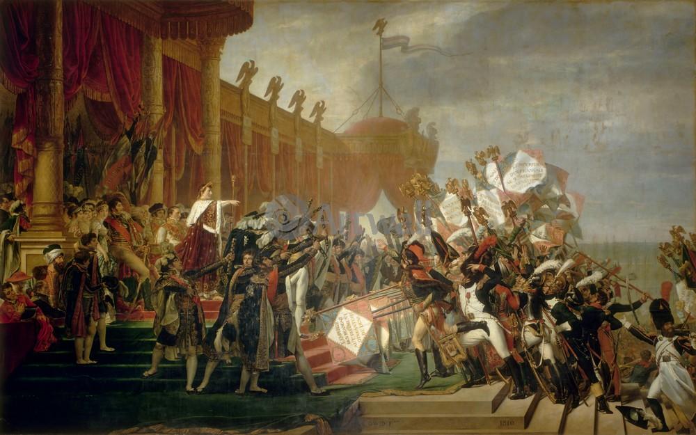 """Художники, картина """"Коронация Наполеона и Жозефины"""", 32x20 см, на бумаге от Artwall"""