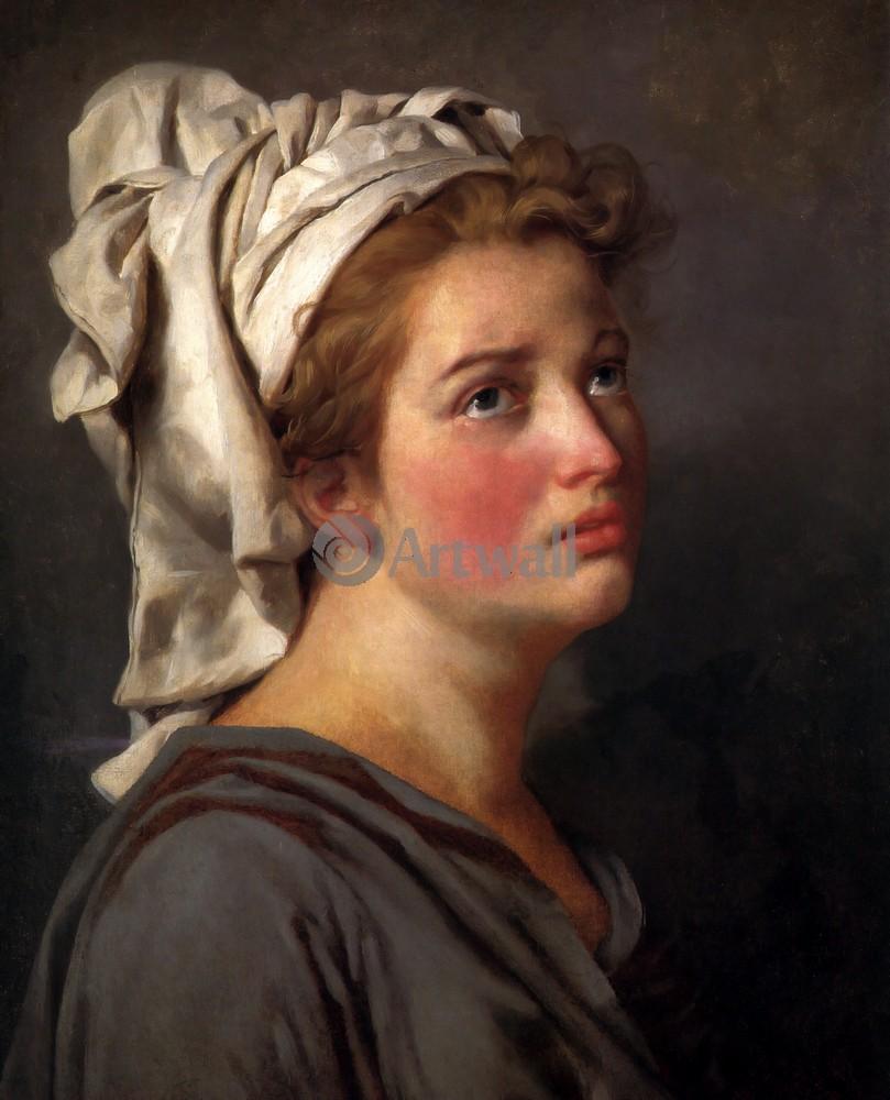 """Художники, картина """"Портрет девушки в тюрбане"""", 20x25 см, на бумаге от Artwall"""