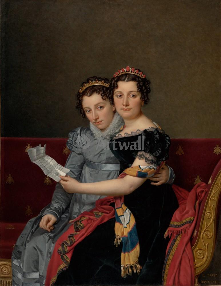 """Художники, картина """"Сестры Зинаида и Шарлотта Бонапарт"""", 20x26 см, на бумаге от Artwall"""