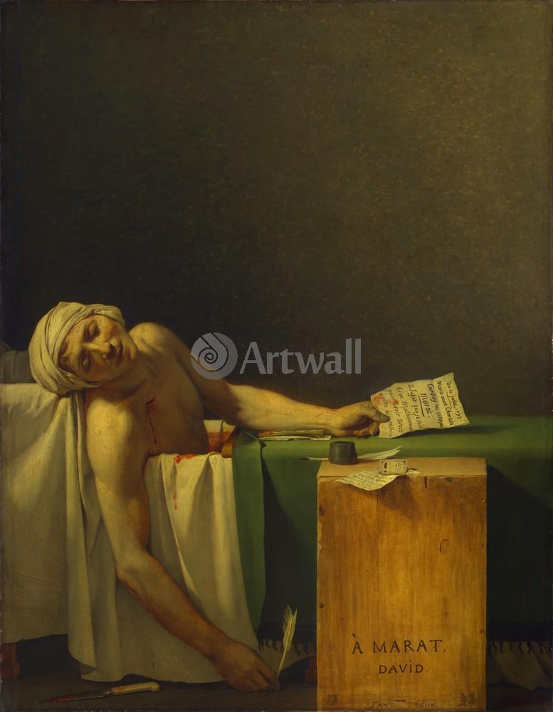 "Художники, картина ""Смерть Марата"", 20x26 см, на бумаге от Artwall"