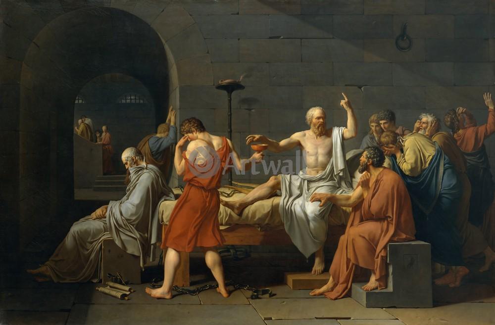 """Художники, картина """"Смерть Сократа"""", 30x20 см, на бумаге от Artwall"""
