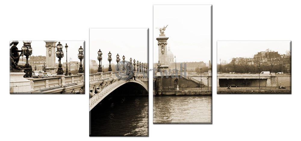 Модульная картина «Париж, мост Александра III», 106x50 см, модульная картина от Artwall