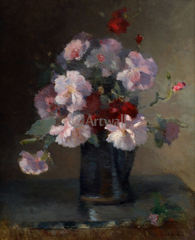 """Художники, картина """"Букет розовых цветов"""", 20x25 см, на бумаге от Artwall"""