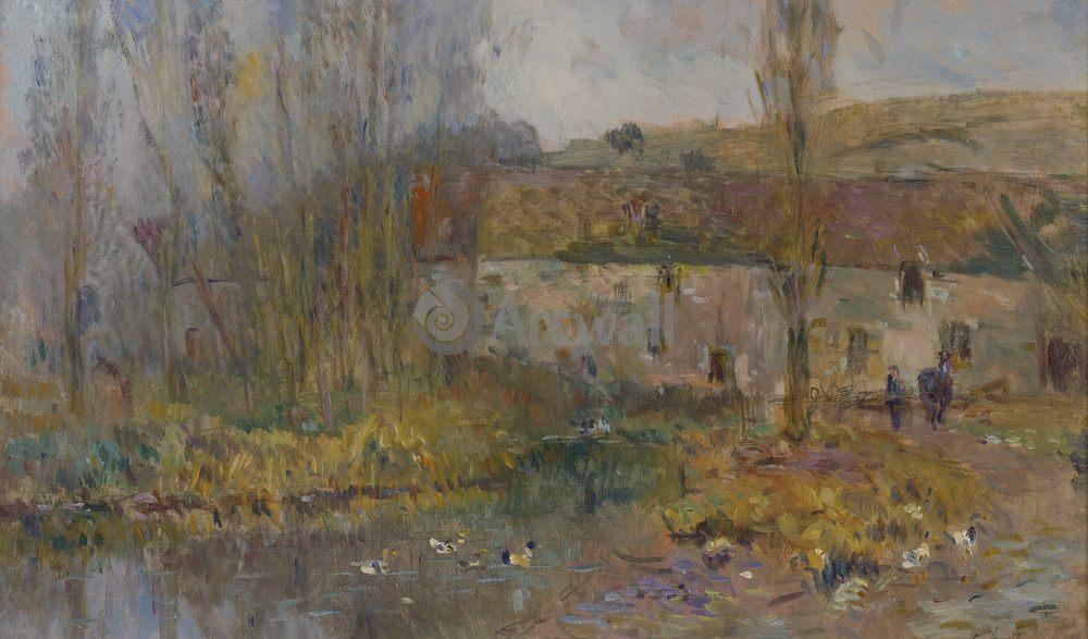 """Художники, картина """"Водяная мельница в Нормандии"""", 34x20 см, на бумаге от Artwall"""