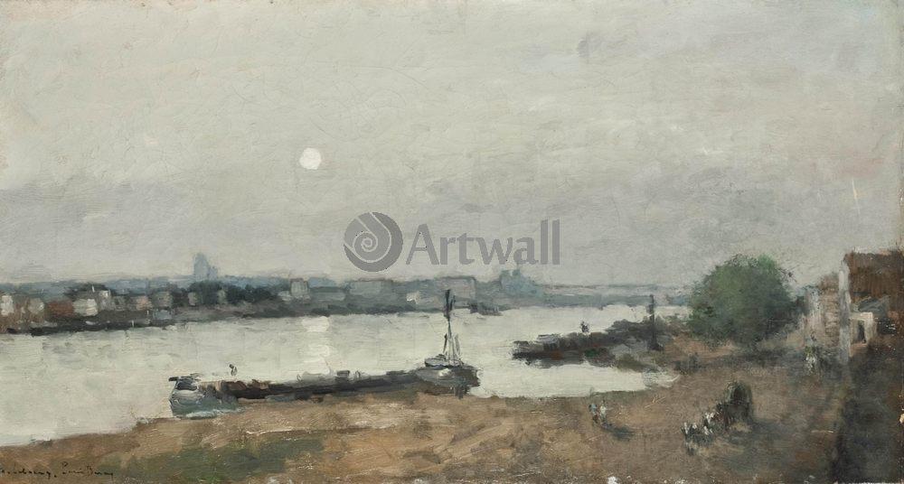 """Художники, картина """"Доки Берси в париже"""", 37x20 см, на бумаге от Artwall"""