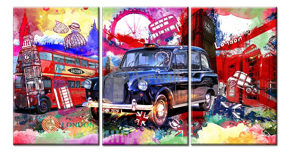 Модульная картина «Лондон зовет», 96x50 см, модульная картина от Artwall