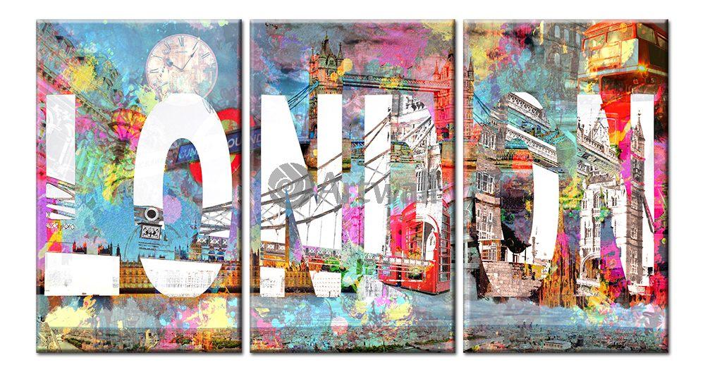 Модульная картина «London», 95x50 см, модульная картина от Artwall