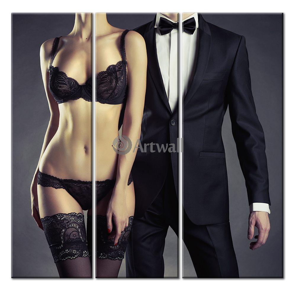Модульная картина «Леди и джентельмен», 51x50 см, модульная картина от Artwall