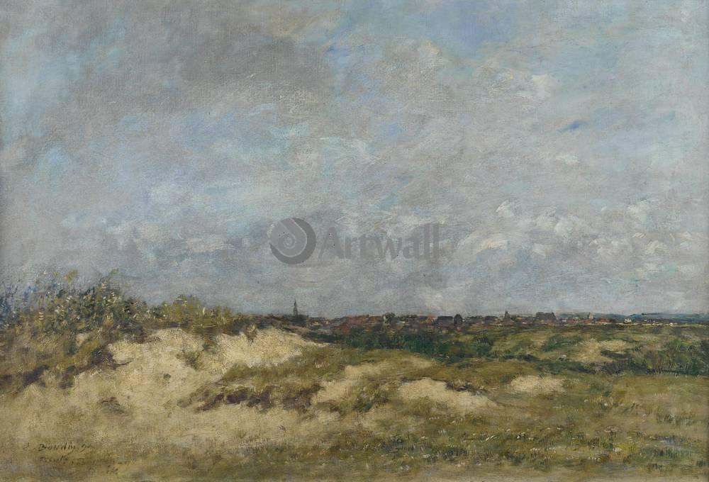 """Художники, картина """"Берк, дюны в ветренную погоду"""", 29x20 см, на бумаге от Artwall"""