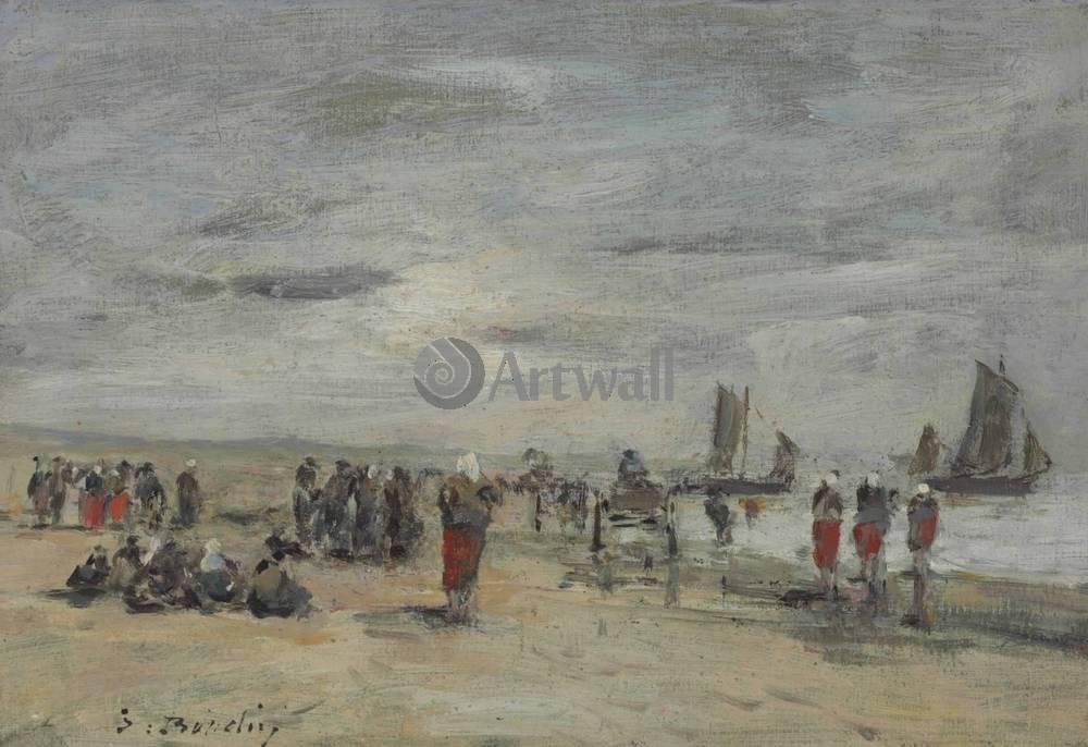 """Художники, картина """"Берк, рыбаки"""", 29x20 см, на бумаге от Artwall"""