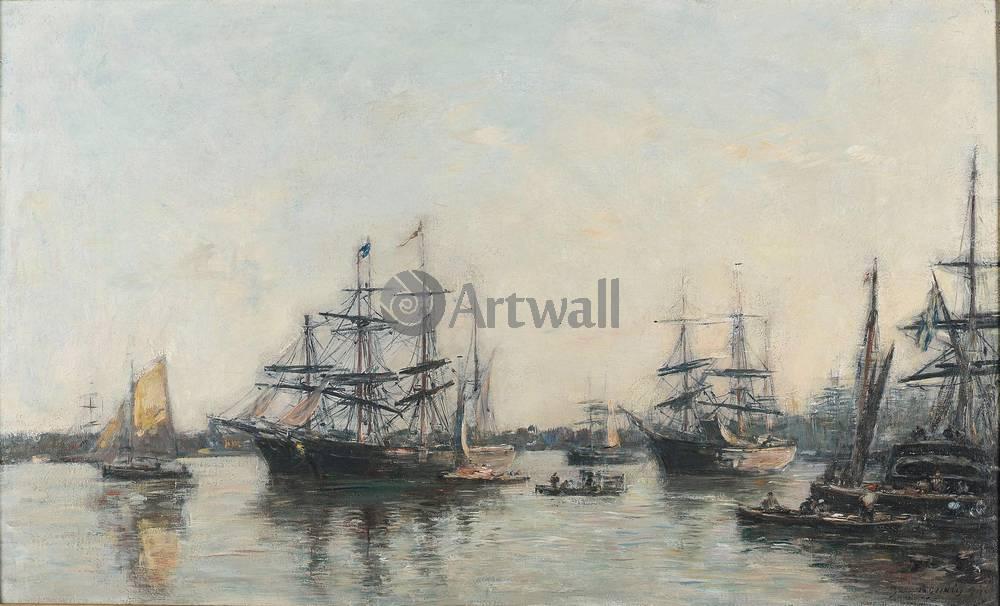 "Художники, картина ""Бордо, корабли на Гаронне"", 33x20 см, на бумаге от Artwall"