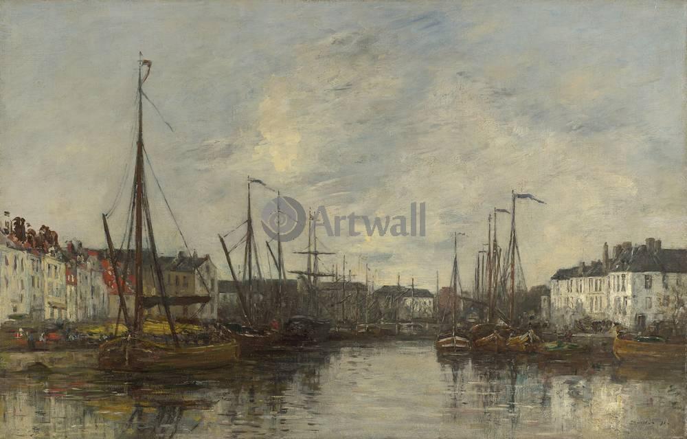 """Художники, картина """"Брюссель, гавань"""", 31x20 см, на бумаге от Artwall"""