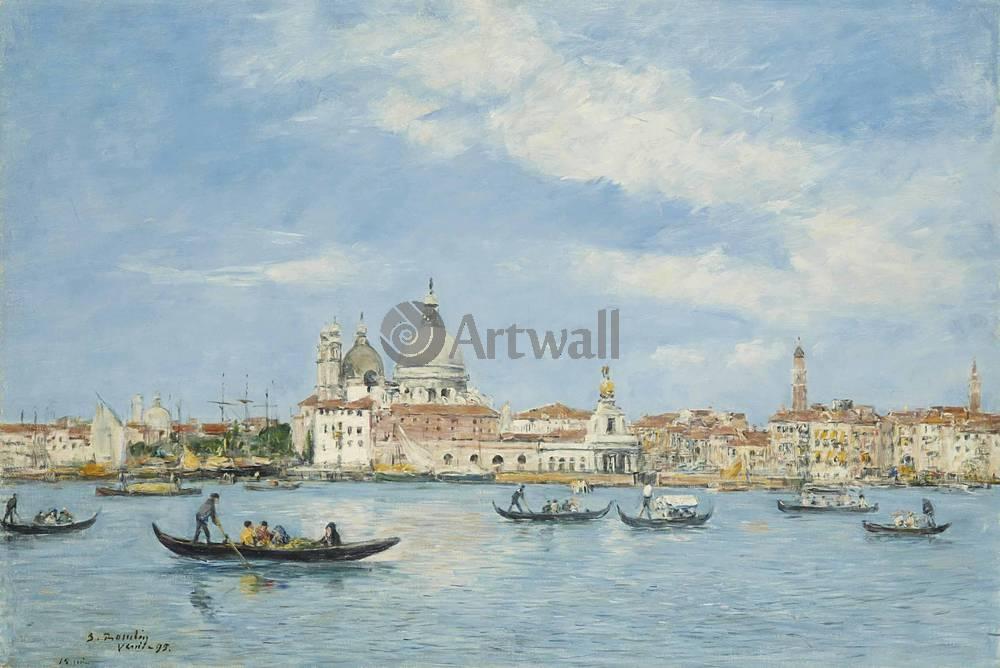 """Художники, картина """"Венеция, вход в Гранд канал"""", 30x20 см, на бумаге от Artwall"""
