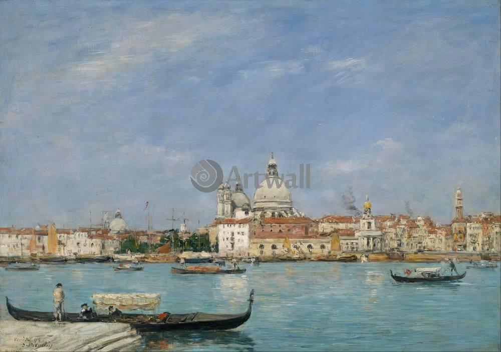 """Художники, картина """"Венеция, Санта-Мария-делла-Салюте"""", 28x20 см, на бумаге от Artwall"""