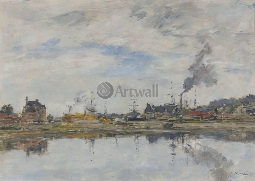 """Художники, картина """"Водохранилище в Трувиле"""", 28x20 см, на бумаге от Artwall"""