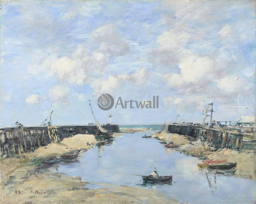 """Художники, картина """"Вход в порт Трувиля"""", 25x20 см, на бумаге от Artwall"""
