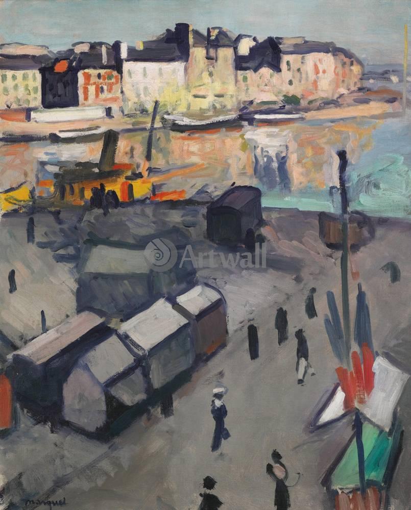 """Художники, картина """"Гавр, бассейн"""", 20x25 см, на бумаге от Artwall"""